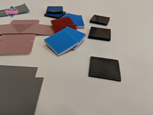 Assortment of different thermal pads