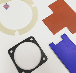 Gaskets of Natural Rubber Crème, Fluorosilicone Blue, Silicone Red, Butyl Black