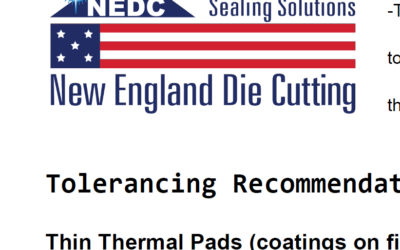 Tolerancing for Thermal Pads | Thickness, Diameter, Linear Dimensions